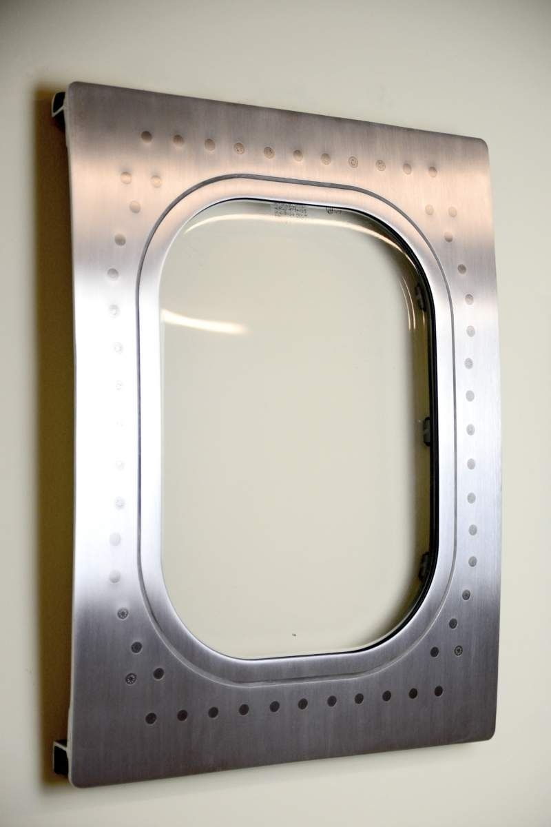 Most Recent This Airplane Window Was Cut From A 767 And Turned Into A Custom Intended For Metal Airplane Wall Art (View 5 of 15)
