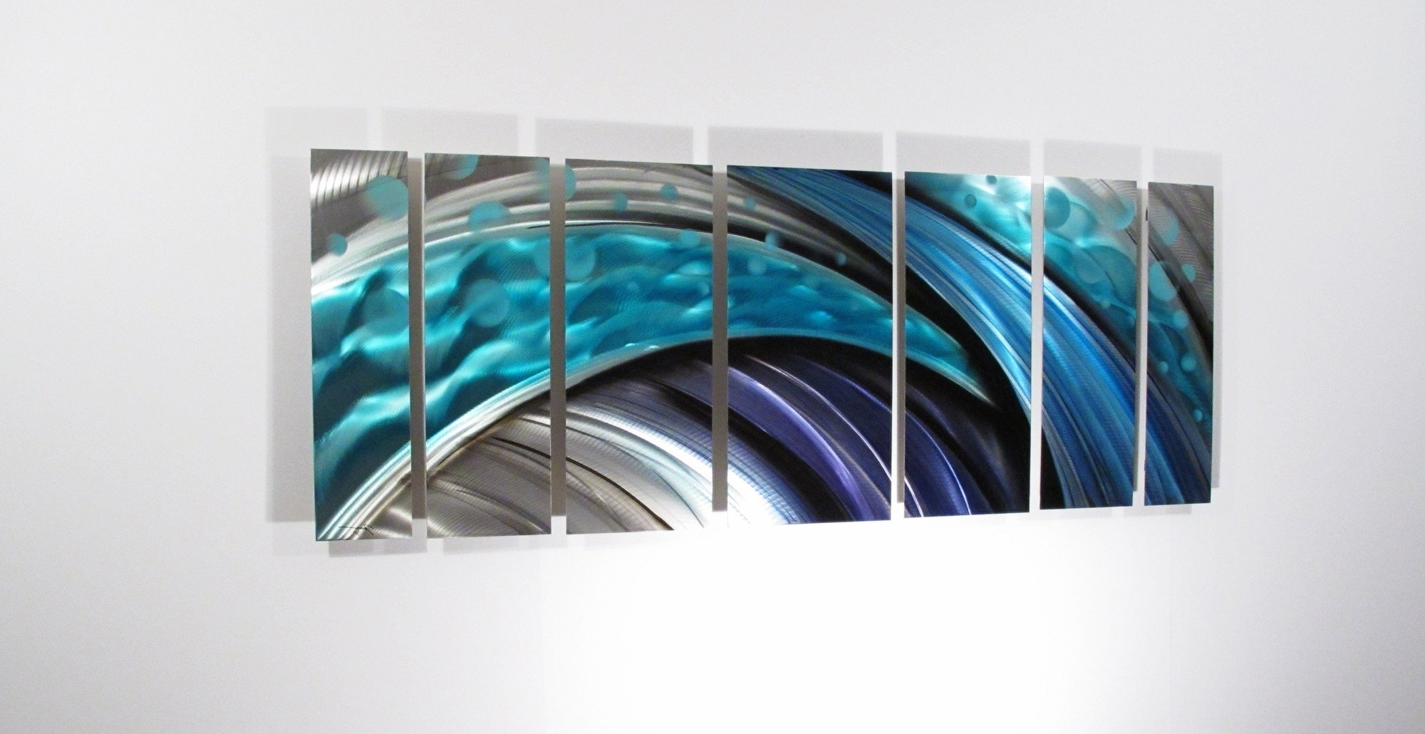 Most Recent Turquoise Metal Wall Art With Fun Metal Abstract Wall Art Circle Bubble Wave Shaped Find This (View 3 of 15)