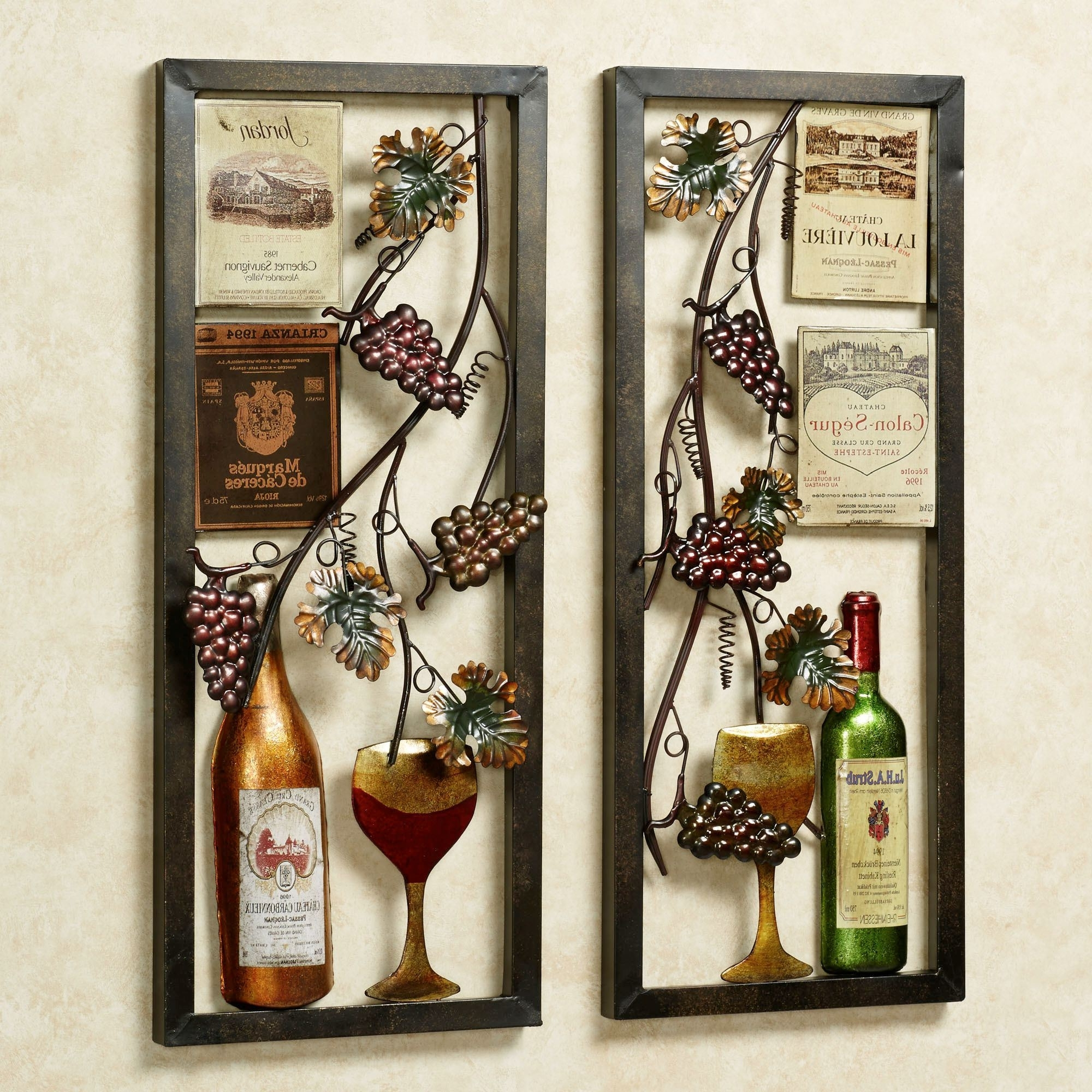 Most Recent Valley Vineyard Metal Wall Art Set In Vineyard Wall Art (View 6 of 15)