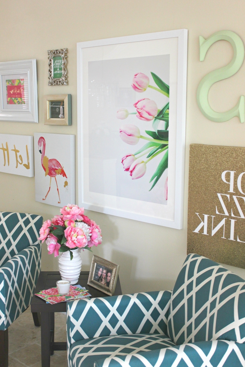 Most Recent Vibrant Wall Art Intended For Lilly Pulitzer Inspired Wall Art Collage (View 8 of 15)