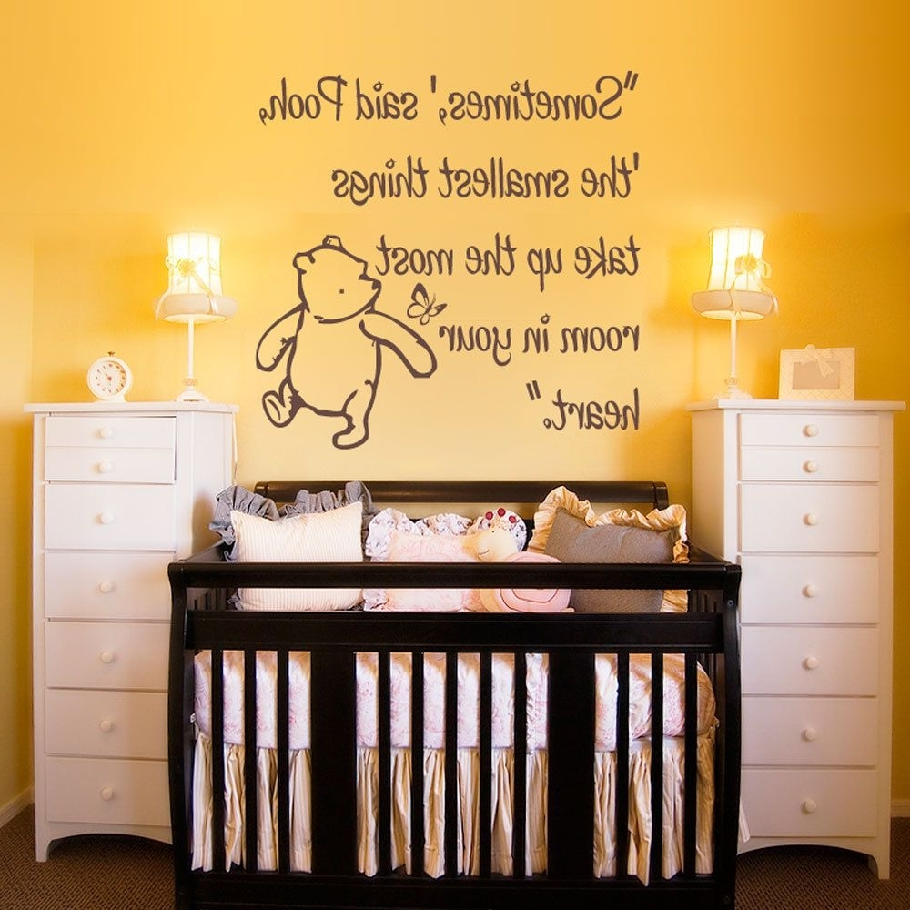 Most Recent Vinyl Wall Decal Sticker Art – Smallest Things – Small – Winnie For Winnie The Pooh Wall Art (View 9 of 15)