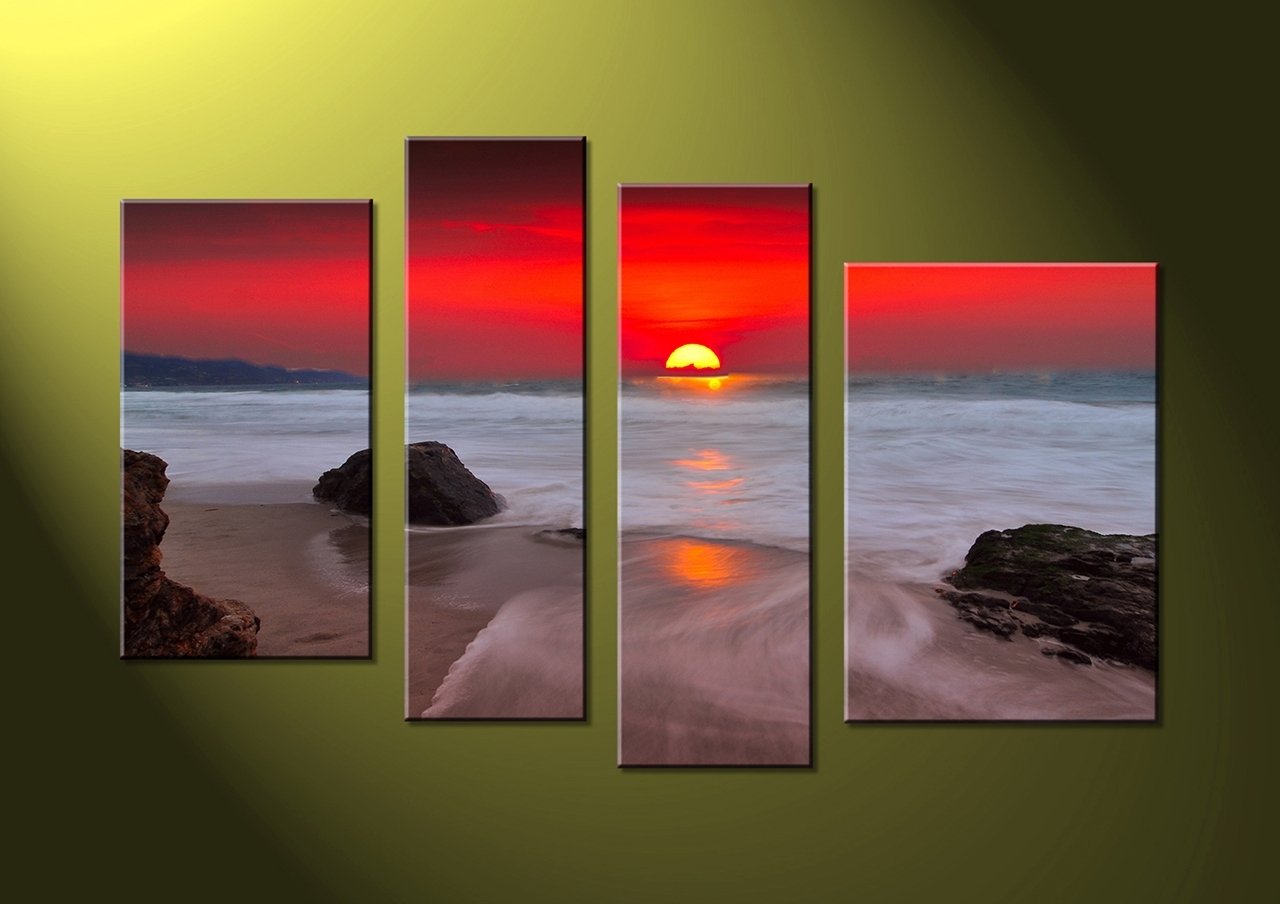 Most Recent Wall Art Designs: 4 Piece Canvas Wall Art 4 Piece Canvas Home Pertaining To Multi Canvas Wall Art (View 2 of 15)