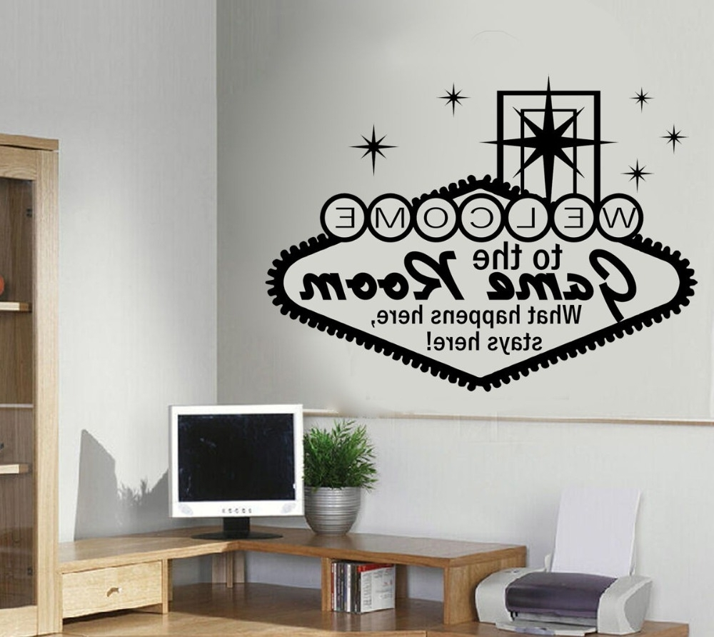 Most Recent Wall Art For Game Room Pertaining To Game Room Wall Sticker Boys Teens Bedroom Door Decal Diy Children (View 8 of 15)