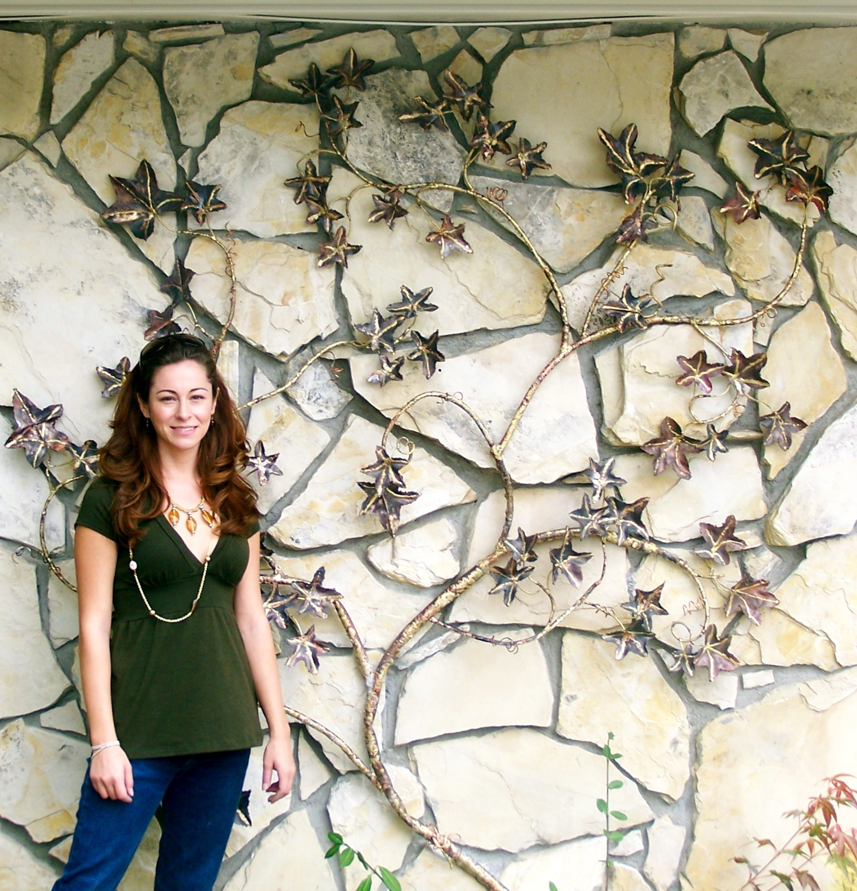 Most Recent Wall Art Ideas Design : Creative Grapevines Copper Outdoor Wall Inside Grape Vine Wall Art (View 10 of 15)