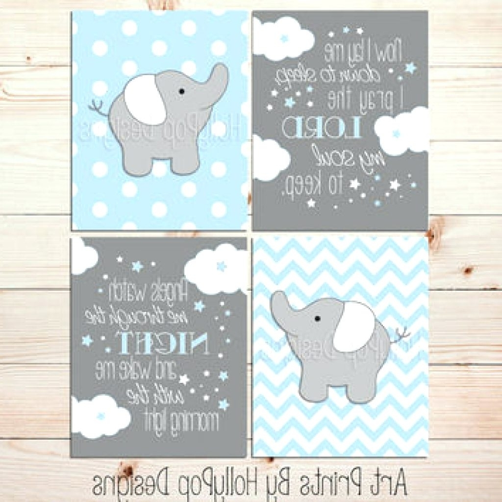 Most Recent Wall Arts ~ Hollypop Designs On Wanelo Elephant Nursery Wall Decor With Nursery Canvas Art (View 6 of 15)