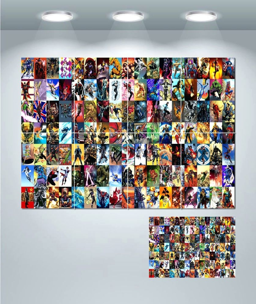 Most Recent Walmart Framed Art In Wall Arts ~ Marvel Comics Wall Mural Marvel Comics Framed Art (View 6 of 15)