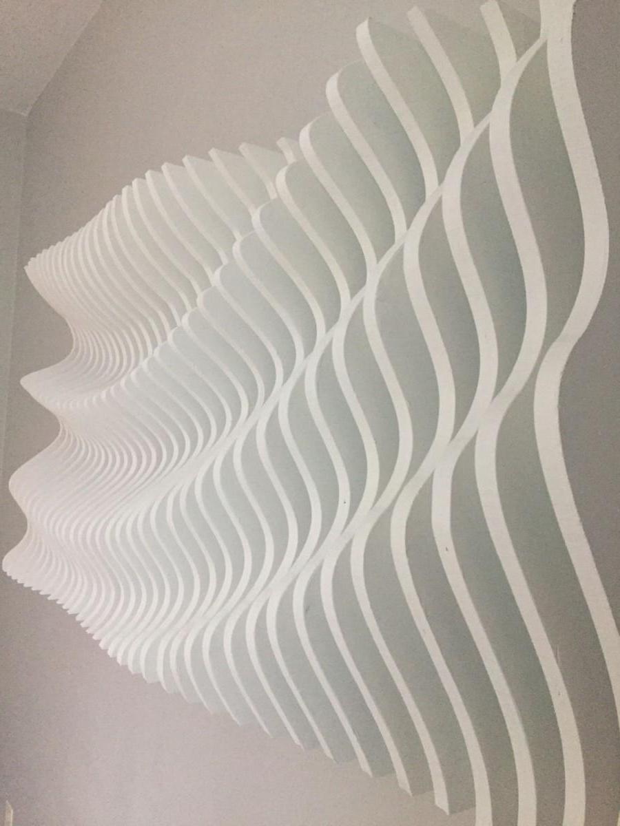 Most Recent Waves 3d Wall Art Throughout Wood Wall Art, Modern Art, Parametric Wave, 3d Art, Wall Sculpture (View 3 of 15)
