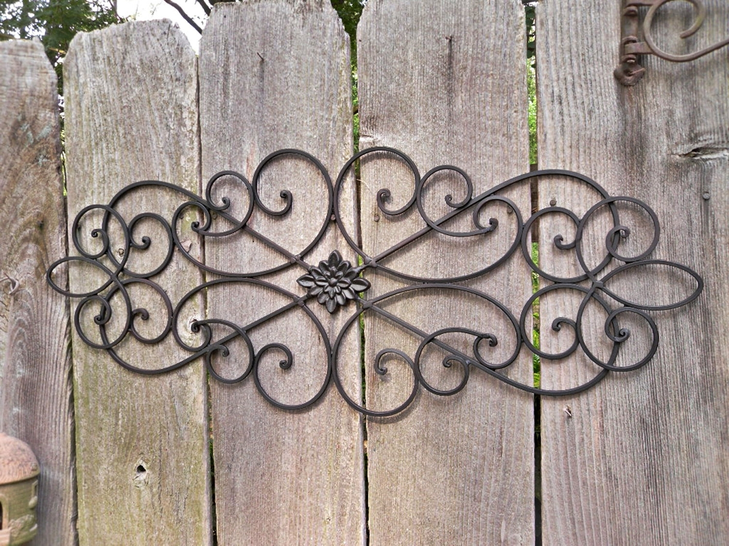 Most Recent Wrought Iron Wall Outdoor — Radionigerialagos With Regard To Iron Art For Walls (View 9 of 15)