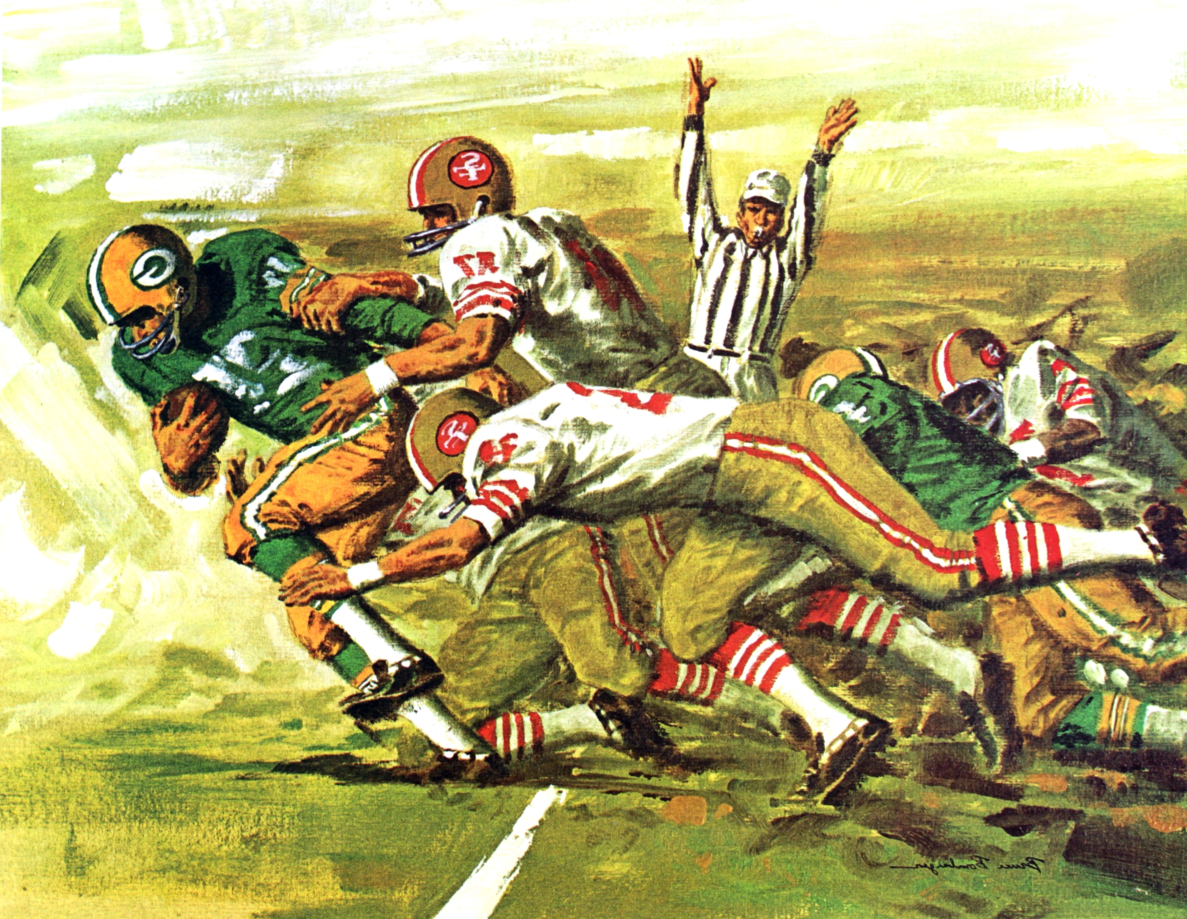 Most Recently Released 1965 66 Green Bay Packers Mobil Oil Poster (View 6 of 15)