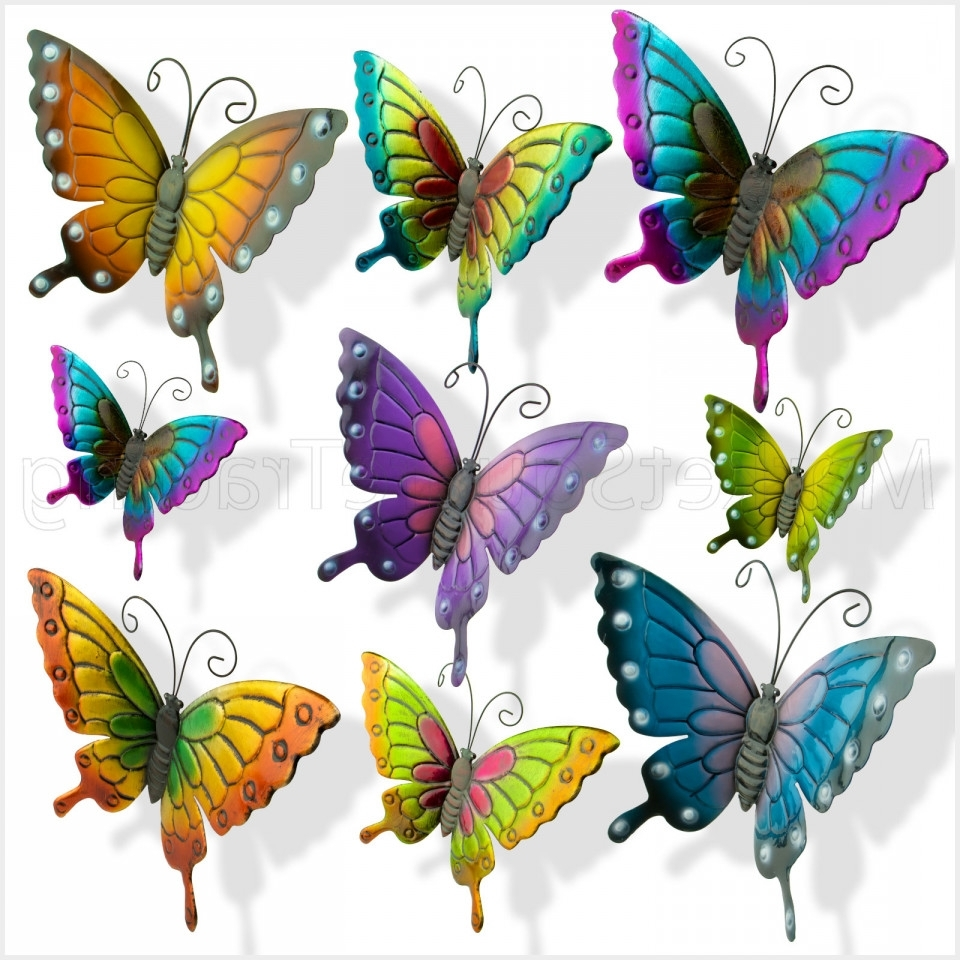 Most Recently Released 36 Inspirational Large Metal Butterfly Wall Art – Wall Decoration With Regard To Large Metal Butterfly Wall Art (View 2 of 15)