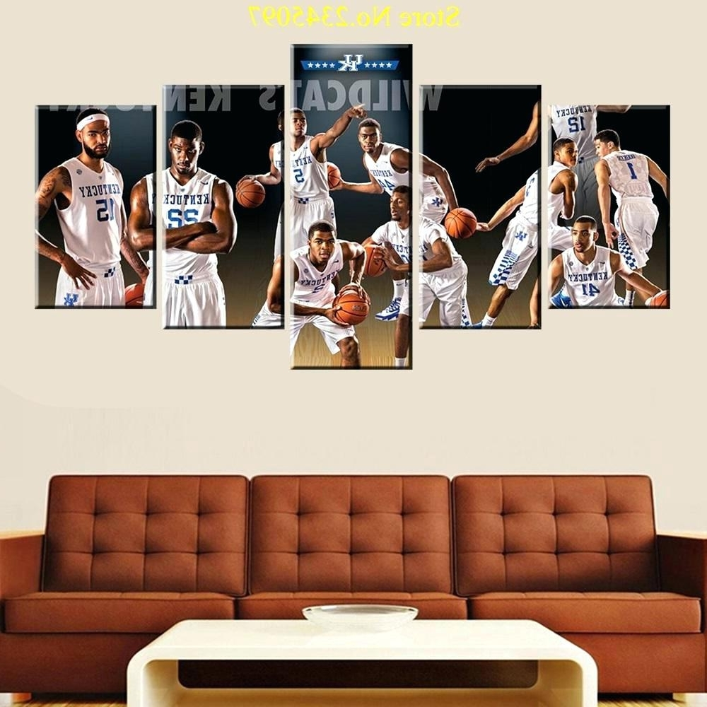 Most Recently Released 3D Wall Art Night Light Australia Inside Wall Arts ~ Basketball Wall Art Australia 5 Piece Kentucky (View 11 of 15)