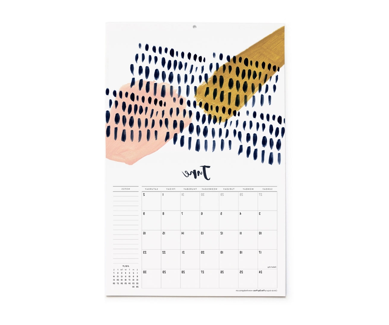 Most Recently Released Abstract Calendar Art Wall Throughout 2018 Abstract Art Wall Calendar – Fine Day Press (View 9 of 15)