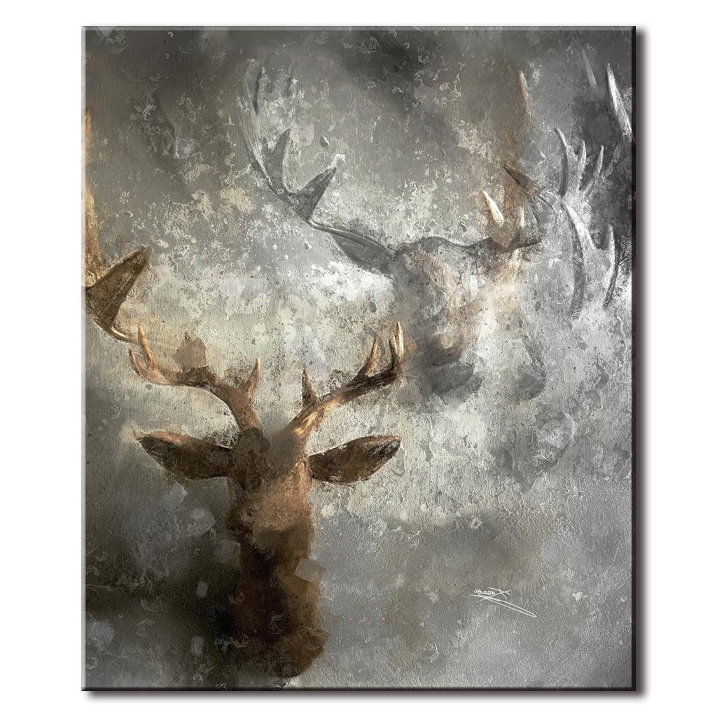 Featured Photo of Abstract Deer Wall Art