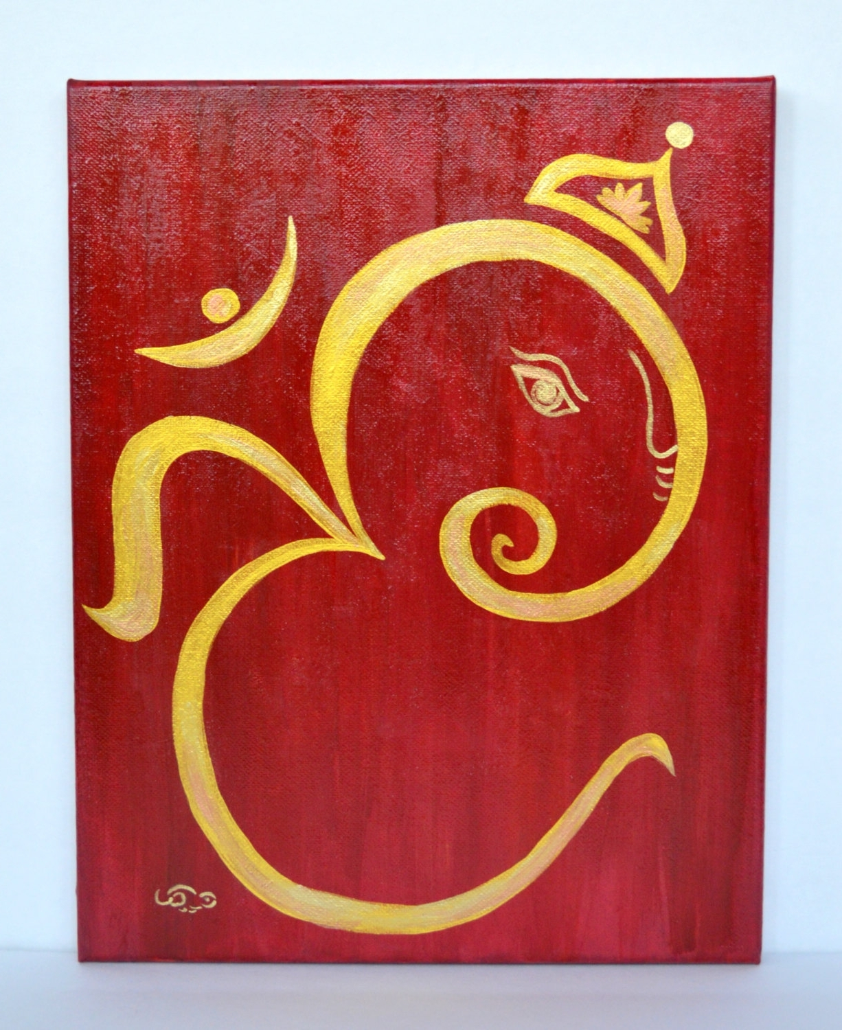 Most Recently Released Abstract Ganesha Wall Art Within Om Ganesha Acrylic Canvas Paintinganartsyappetite On Etsy (View 10 of 15)