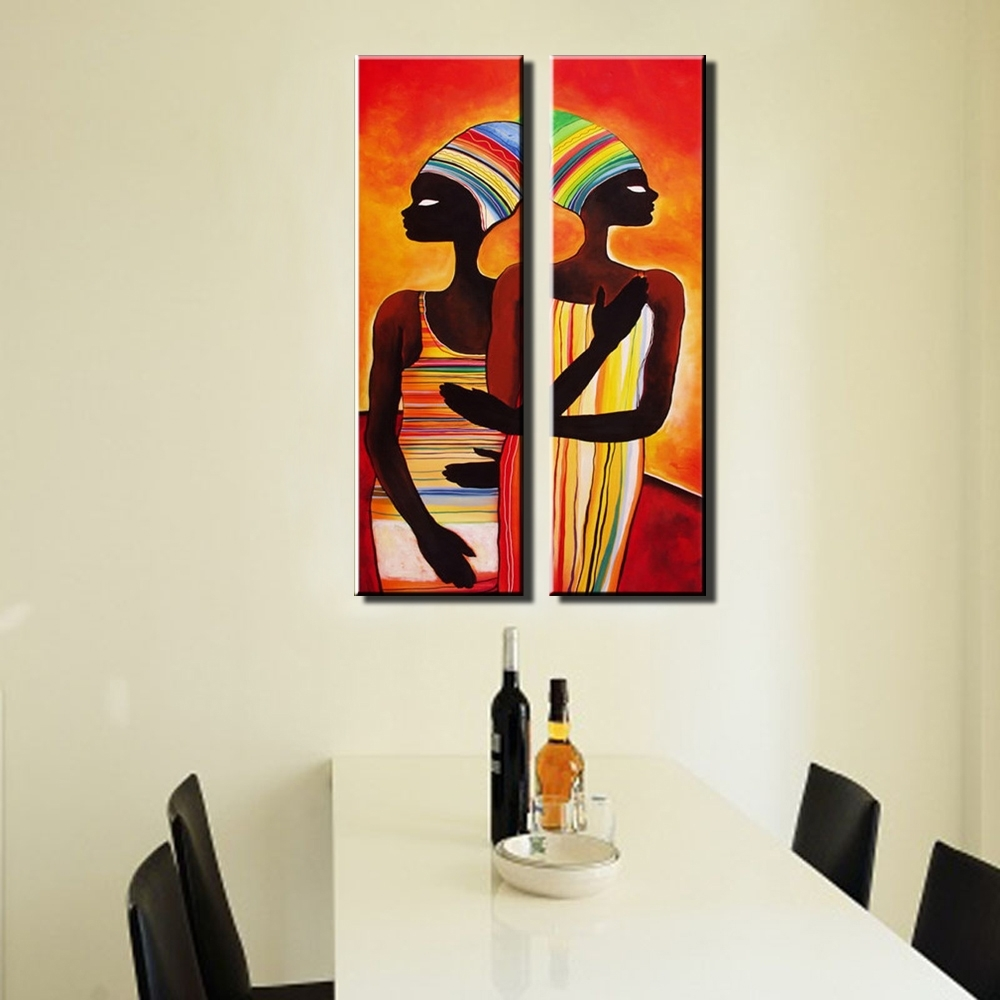 Most Recently Released Abstract Modern Vertical Canvas Wall Art Large Wall Sexy Naked Throughout Abstract African Wall Art (View 9 of 15)