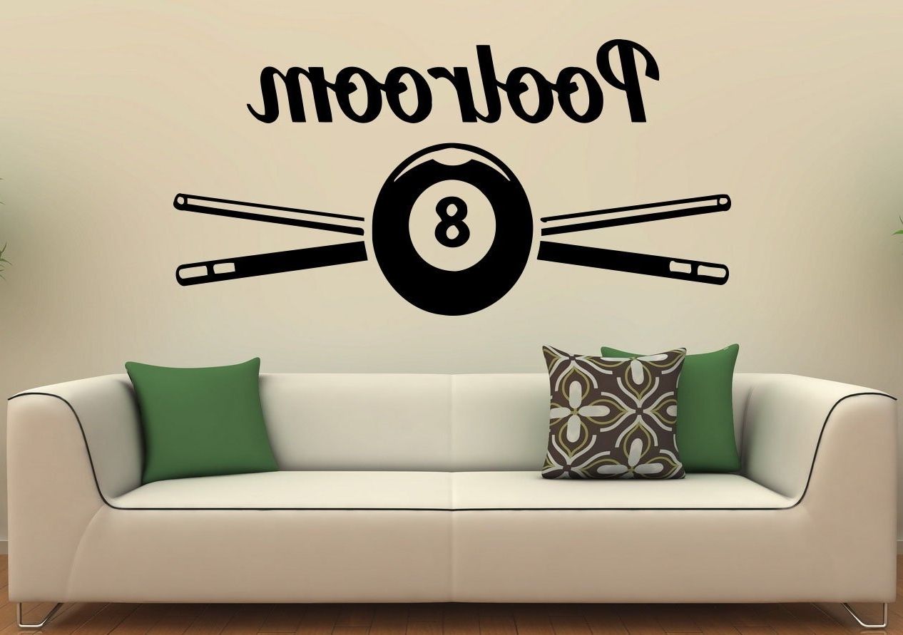 Most Recently Released Billiard Wall Decal Snooker Vinyl Sticker Bals Sports Game Home With Billiard Wall Art (View 10 of 15)