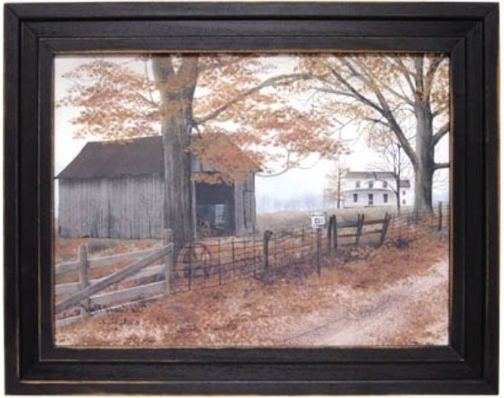 "Most Recently Released Billy Jacobs Framed Wall Art Prints Inside Old Country Road Barnbilly Jacobs Framed Print Art15 1/2"" H X (View 9 of 15)"
