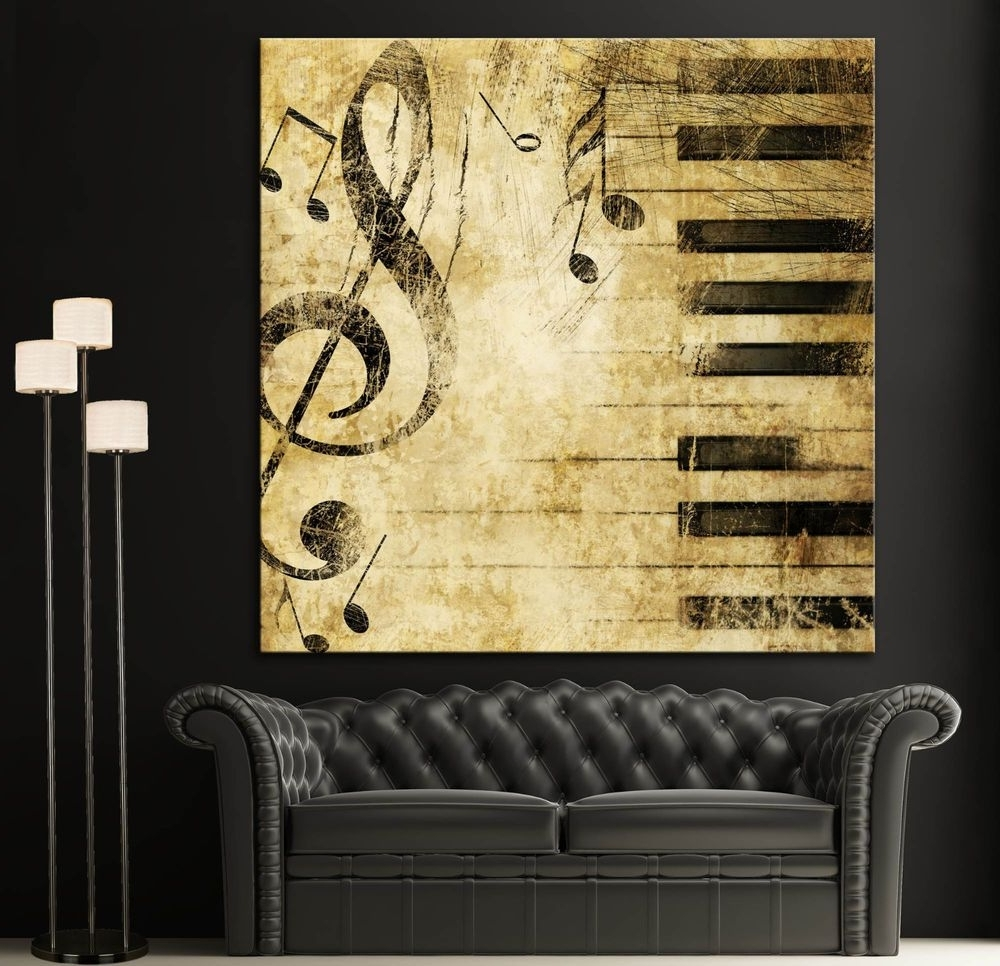 15 Ideas of Abstract Musical Notes Piano Jazz Wall Artwork