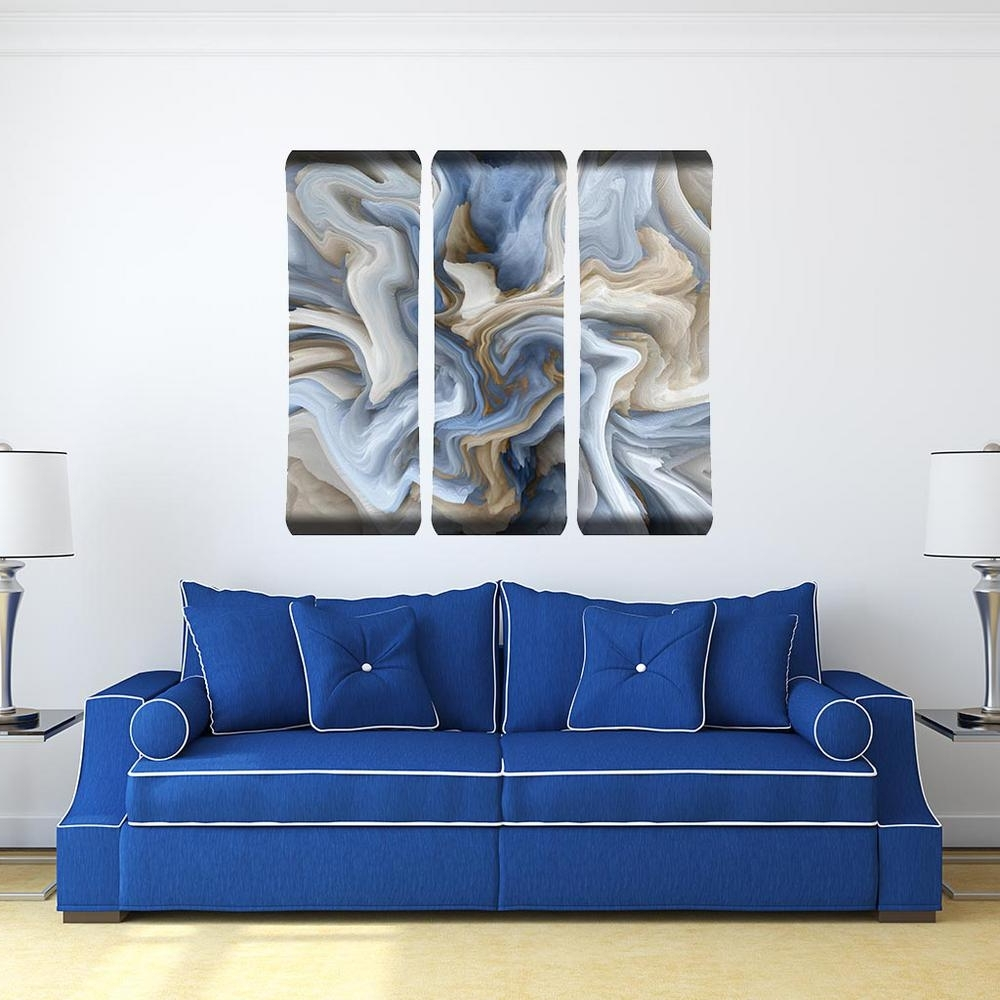 Most Recently Released Blue Swirl Metal Wall Art 101229001 Blueswirl48x19trip – The Home In Swirl Metal Wall Art (View 11 of 15)