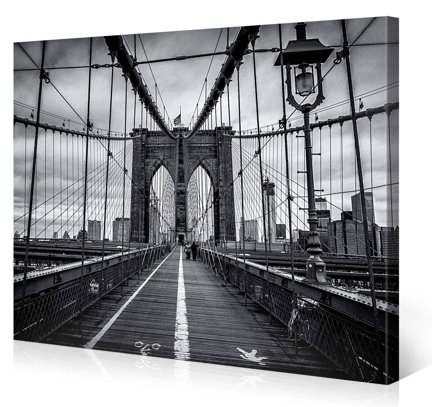 Most Recently Released Brooklyn Bridge Wall Decals Pertaining To Phenomenal Brooklyn Wall Art Bridge Canvas Metal Ny Glass Framed (View 12 of 15)