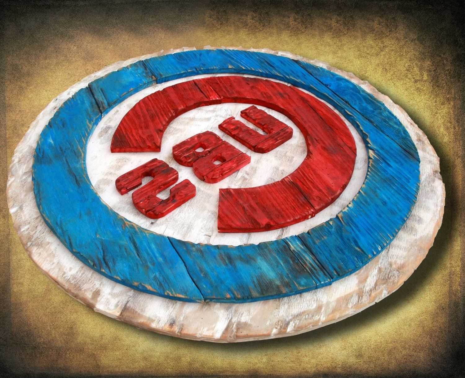 Most Recently Released Chicago Cubs Handmade Distressed Wood Sign, Vintage, Art In Chicago Cubs Wall Art (View 9 of 15)