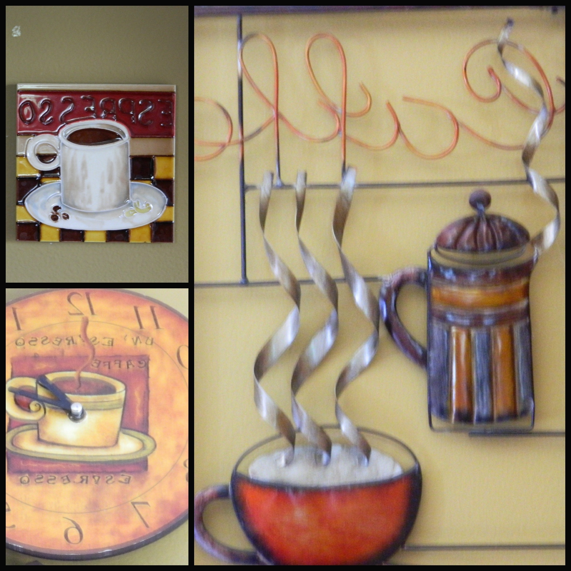 Most Recently Released Coffee Bistro Wall Art In Coffee Themed Kitchen (View 13 of 15)