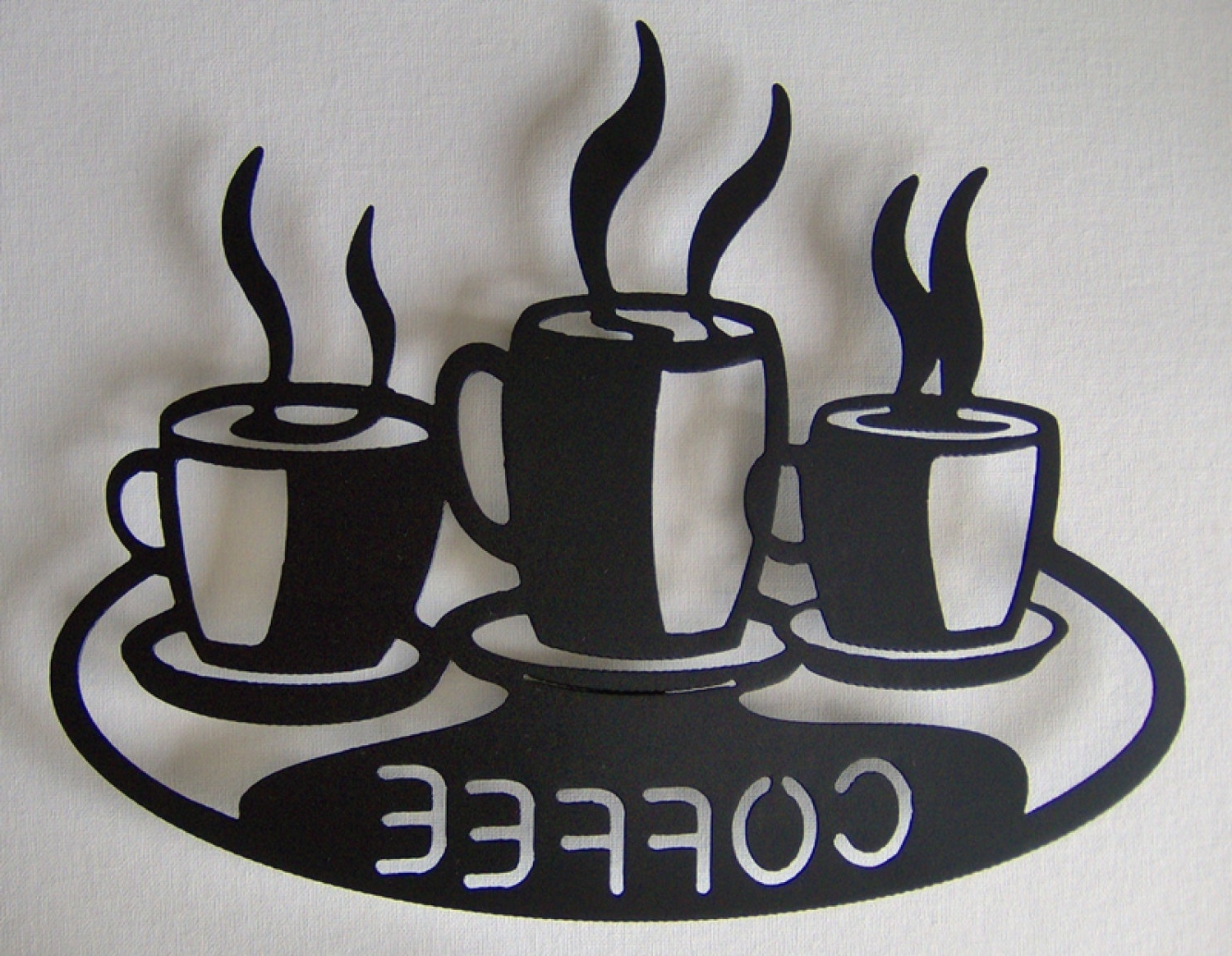 Most Recently Released Coffee Cups On Platter Metal Wall Art For Metal Coffee Cup Wall Art (View 14 of 15)