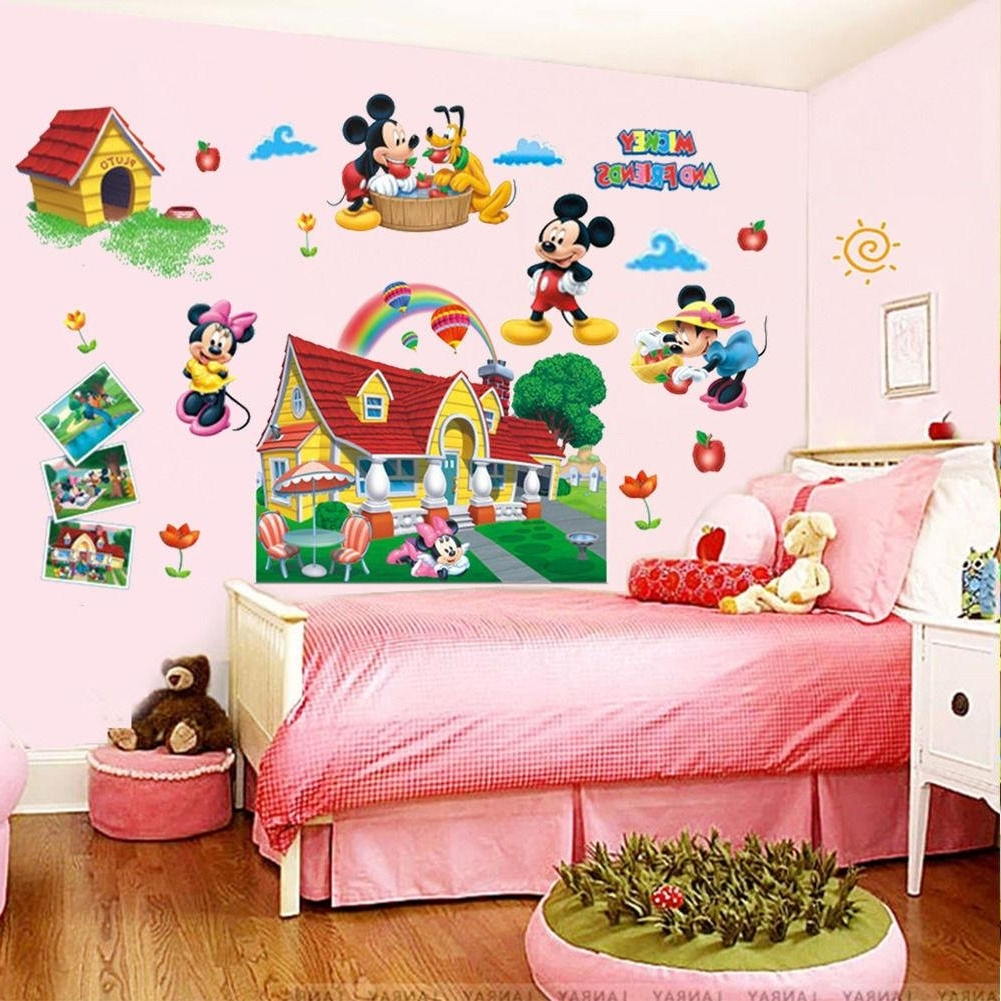 Most Recently Released Colorful Mickey Mouse Clubhouse Wall Sticker 3D Mural Decal Kids In Mickey Mouse Clubhouse Wall Art (View 12 of 15)