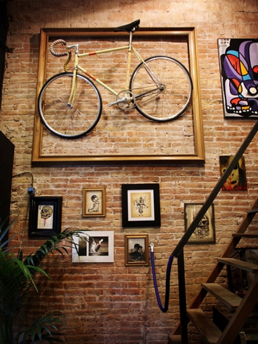 Most Recently Released Creative Ideas Brick Wall Art With Bricks Brick Walls And Antiques Regarding Hanging Wall Art For Brick Wall (View 10 of 15)