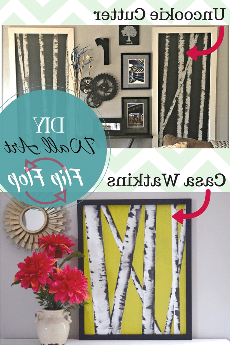 Most Recently Released Diy Wall Art Hop Flip Flop: Birch Tree Art – Casa Watkins Living Regarding Flip Flop Wall Art (View 14 of 15)