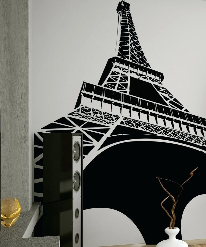 Most Recently Released Eiffel Tower Metal Wall Art For Posh Eiffel Tower Wall Quote Decal Sticker Home Decoration (View 9 of 15)