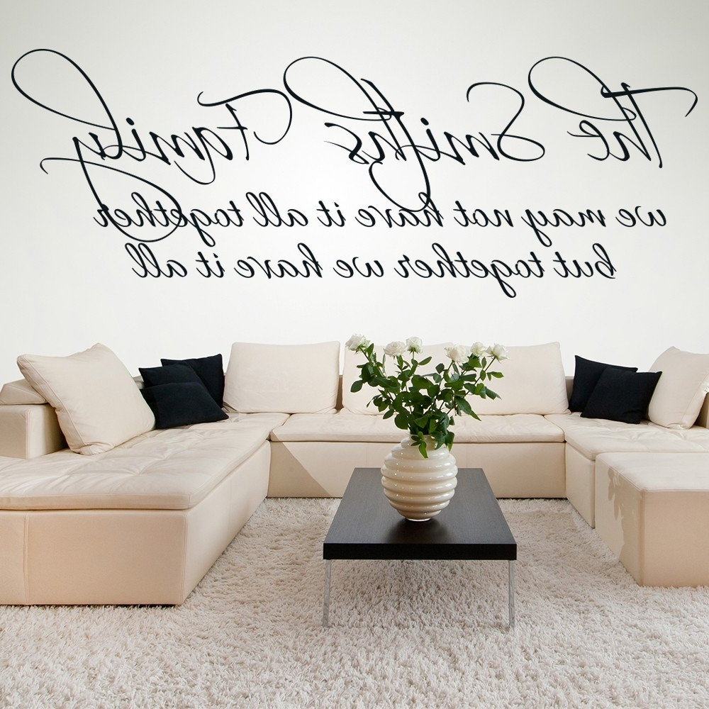 Most Recently Released Family Quotes Wall Stickers (View 10 of 15)