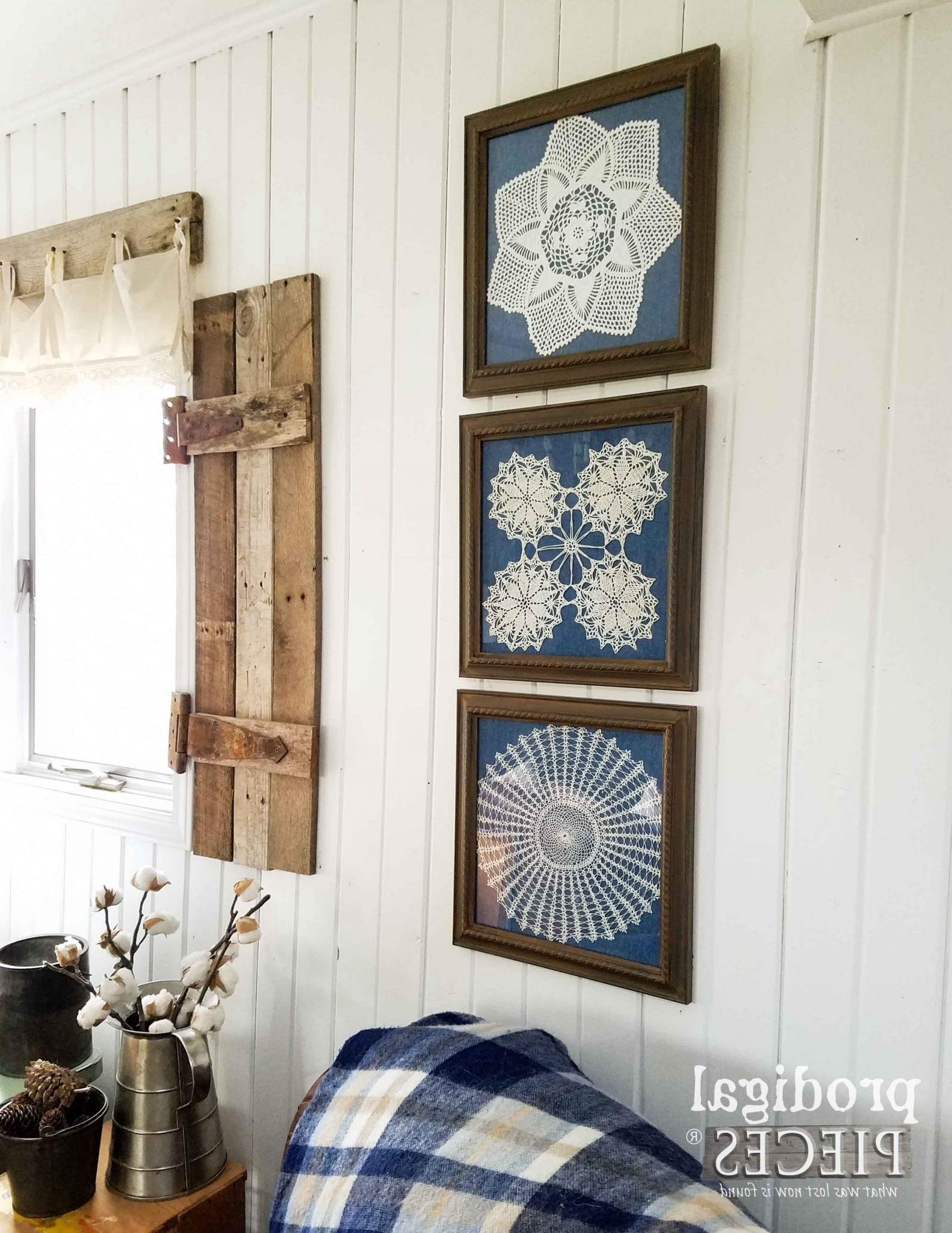 Most Recently Released Farmhouse Wall Art Pertaining To Framed Doily Wall Art – Prodigal Pieces (View 4 of 15)