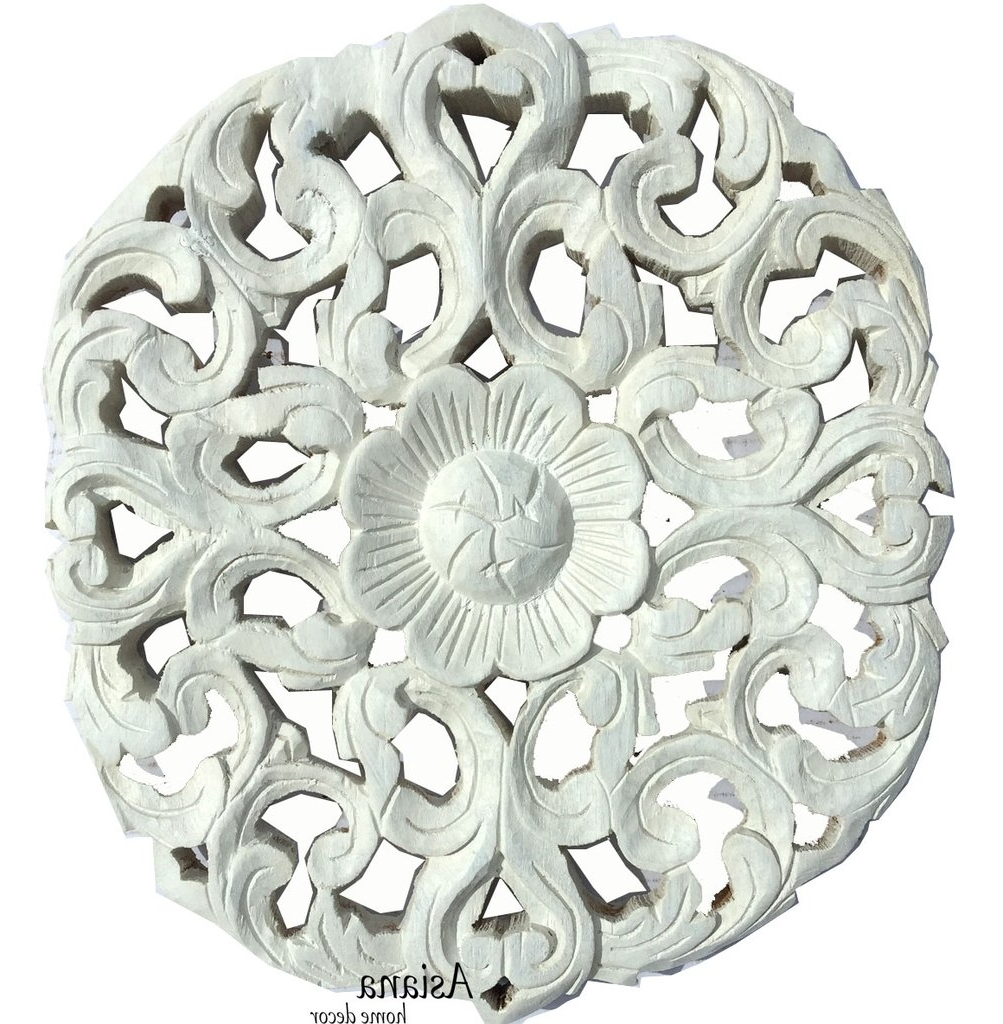 Most Recently Released Filigree Wall Art With Regard To Wood Wall Plaque. Round Wall Art. Carved Wood Wall Decor (View 13 of 15)