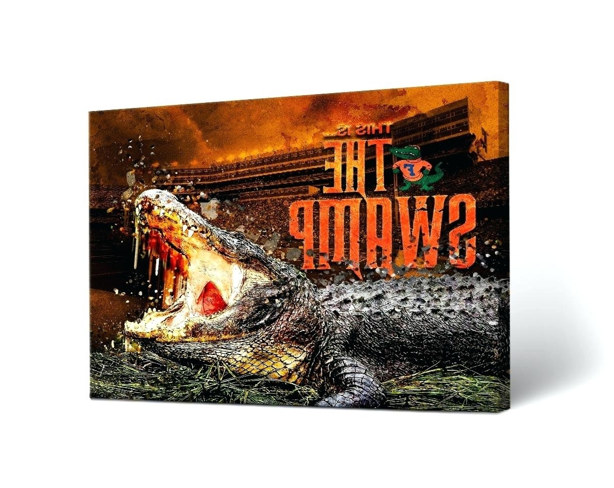 Most Recently Released Florida Gator Wall Art Regarding Florida Wall Decor Skyline Watercolor A – Ukrasheniya (View 10 of 15)