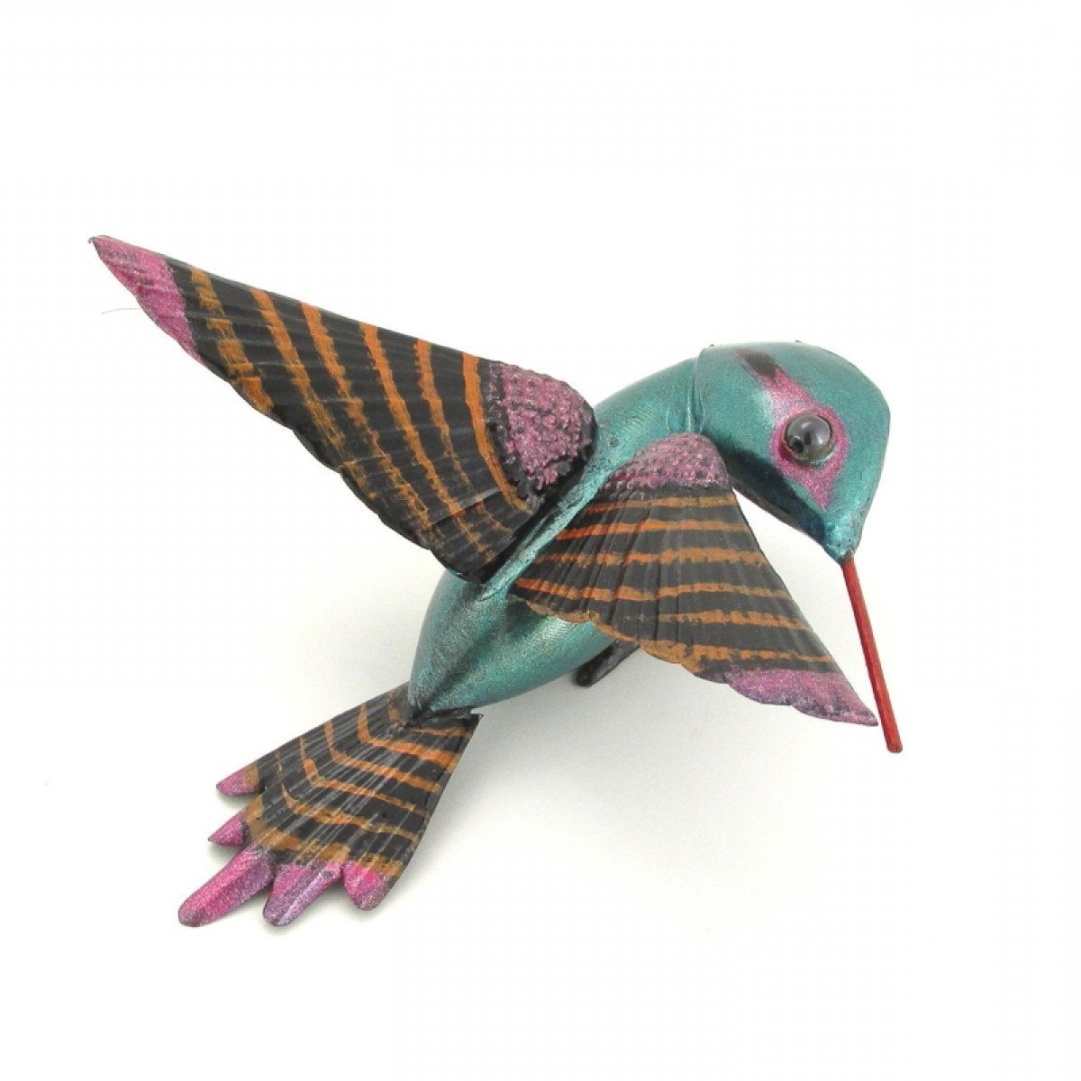 Most Recently Released Flying Hummingbird Sheet Metal Art Mexico In Mexican Metal Art (View 9 of 15)