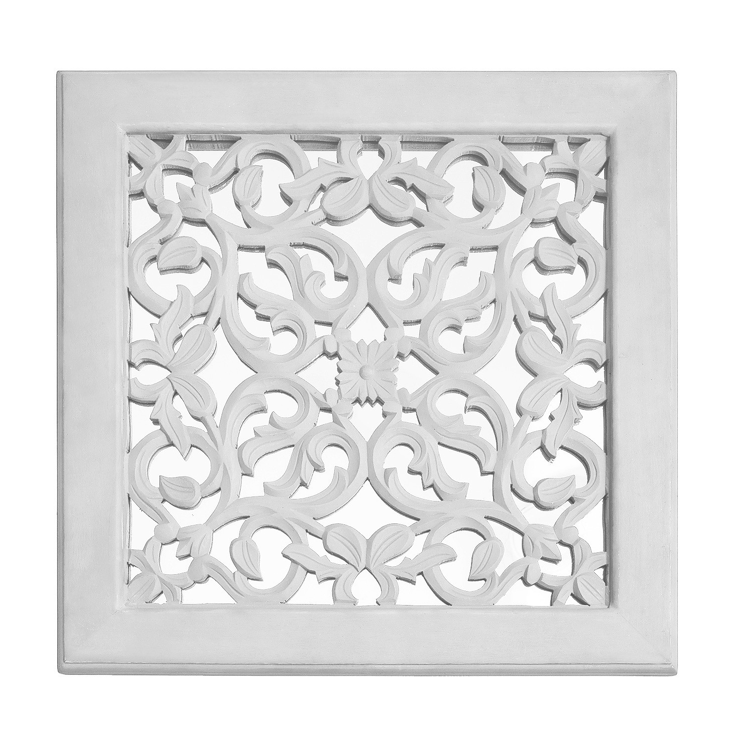 Most Recently Released Fretwork Wall Art: White (Set Of 3) (View 11 of 15)