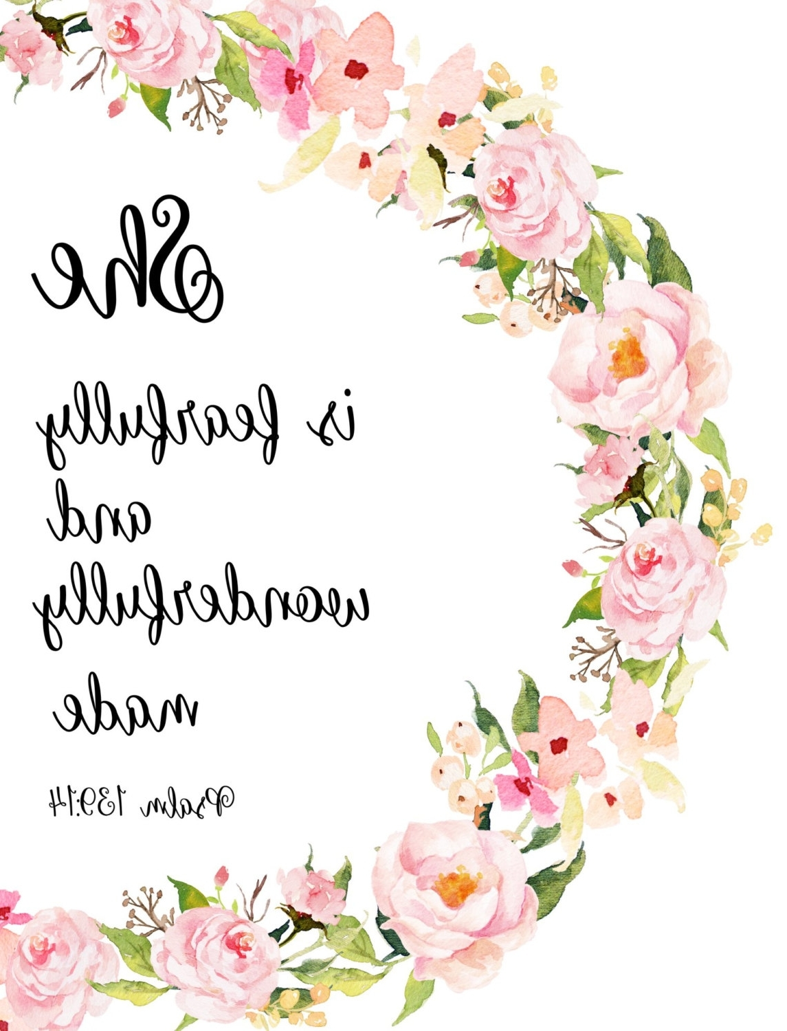 Most Recently Released Girl Nursery Bible Verses, Fearfully And Wonderfully Made For Fearfully And Wonderfully Made Wall Art (Gallery 14 of 15)