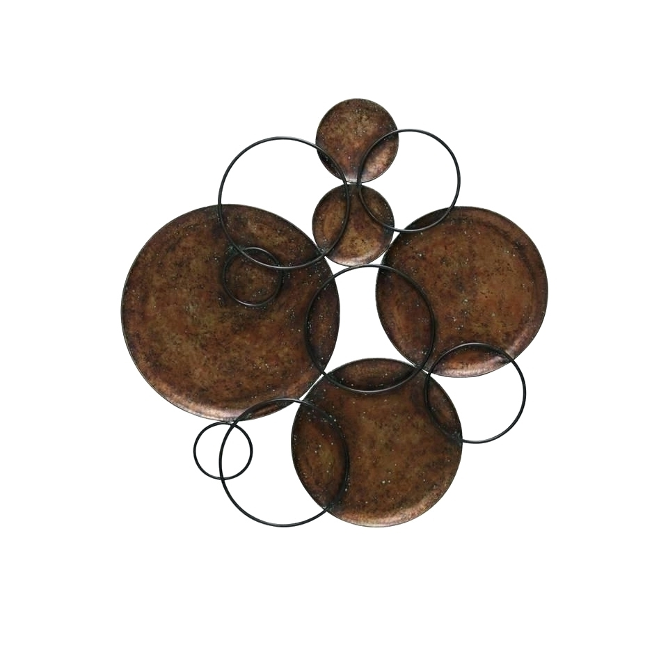 Most Recently Released Hammered Metal Wall Art Inside Wall Arts ~ Hammered Metal Wall Art Black And Copper Circle Wall (View 10 of 15)