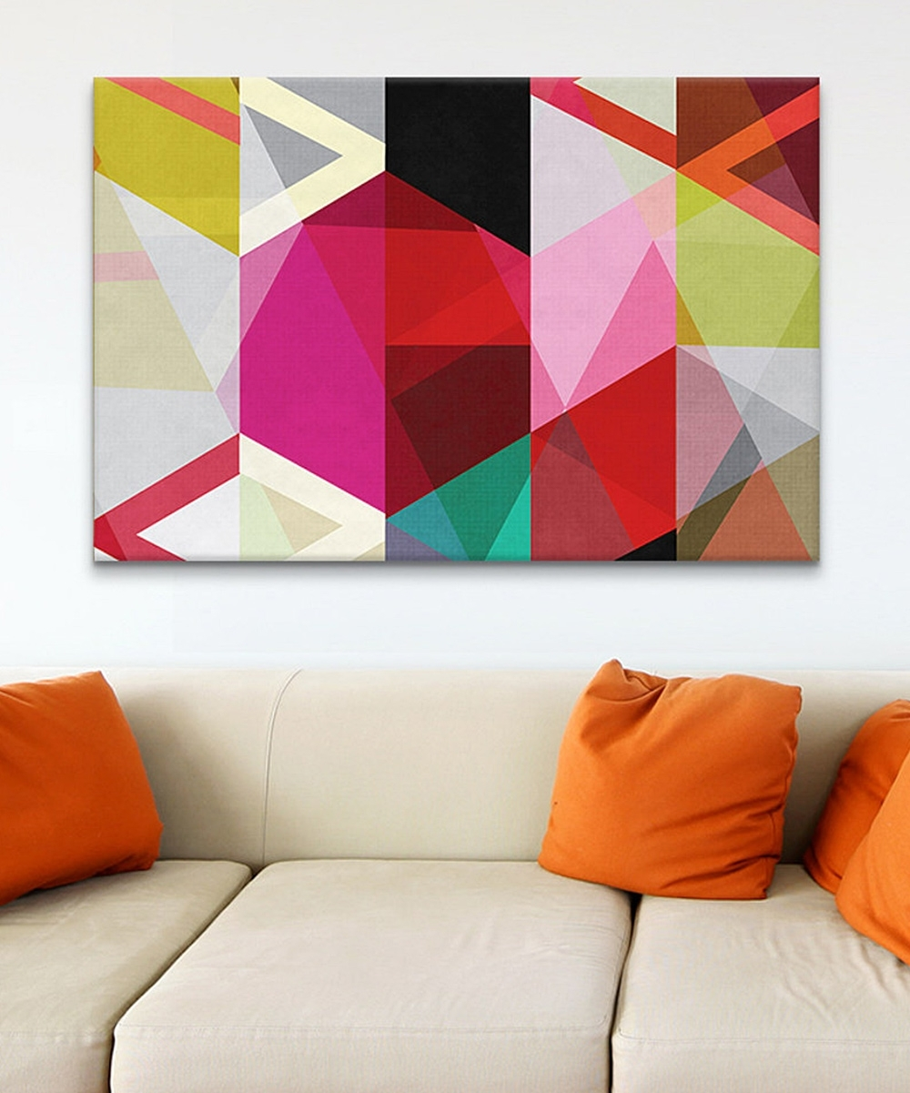 Most Recently Released Icanvasart – Modern View Through A Kaleidoscope Canvas Print Intended For Kaleidoscope Wall Art (Gallery 6 of 15)