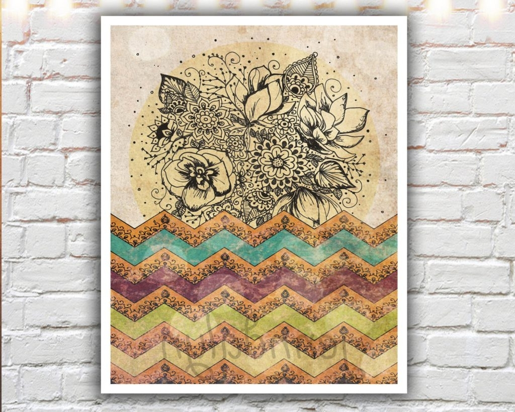 Most Recently Released Incredible Bohemian Wall Art In Conjunction With  Lovely Ideas Boho With Boho Chic
