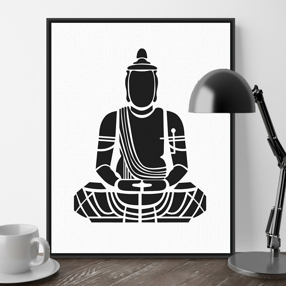Most Recently Released India Abstract Wall Art Within India Modern Minimalist Zen Buddha Portrait Art Prints Poster (View 7 of 15)