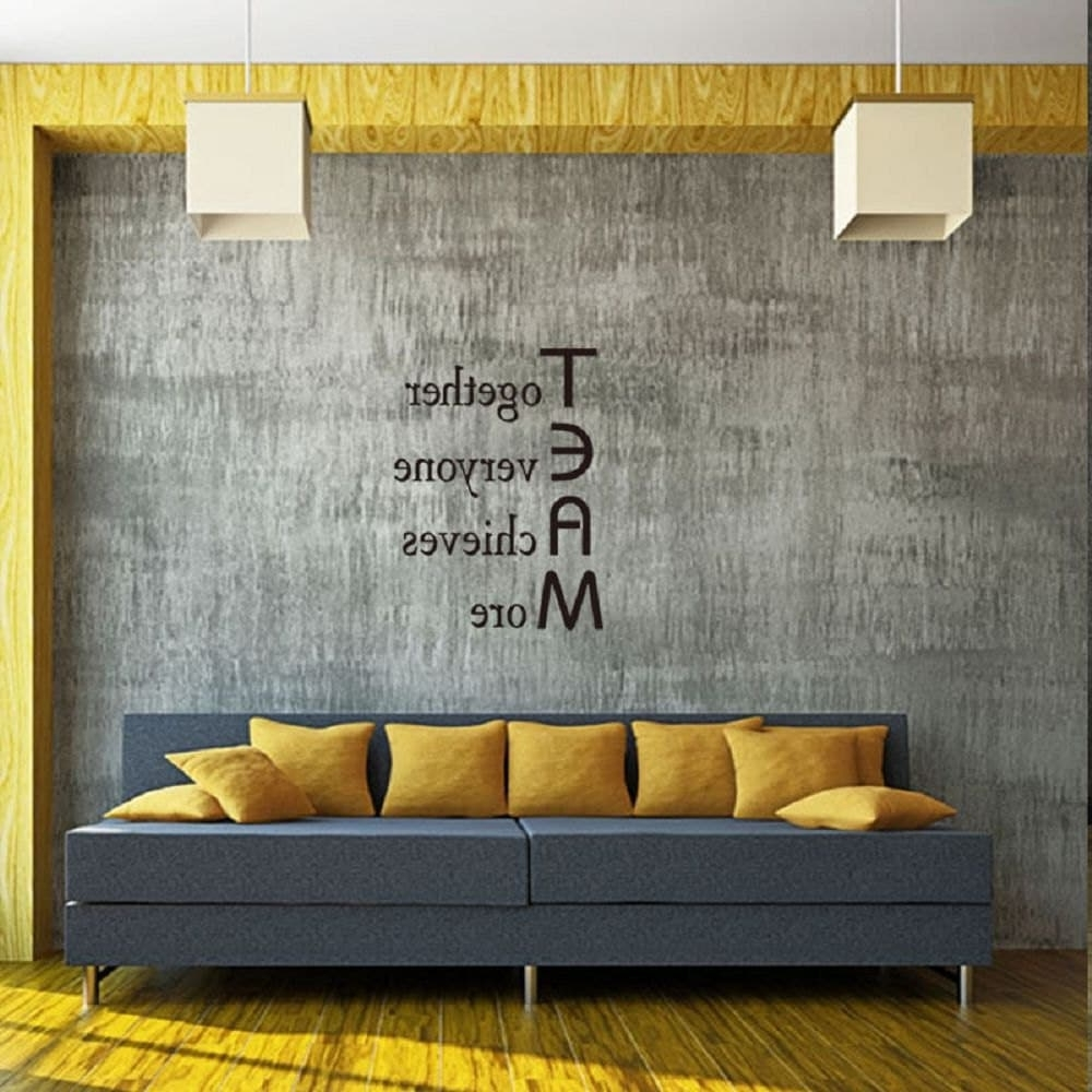 Most Recently Released Inspirational Wall Art For Office With 2018 Dsu Team Motivational Quote Office Wall Sticker Together (View 10 of 15)