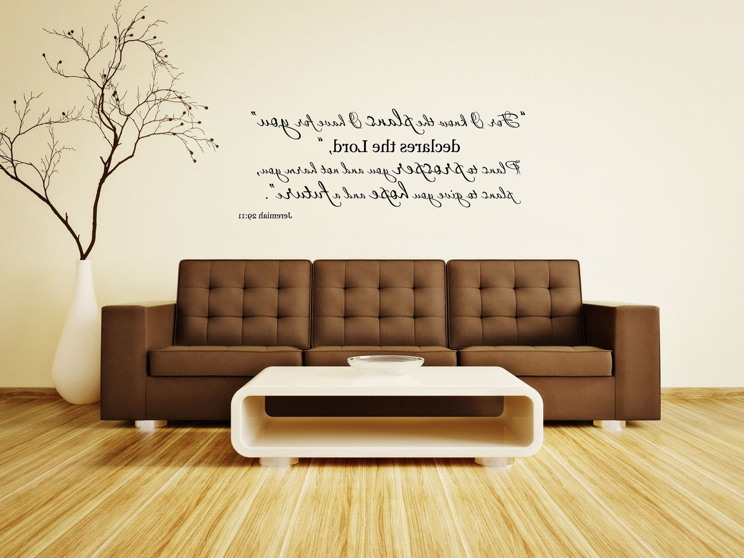 Most Recently Released Jeremiah 29:11 Bible Verse Vinyl Wall Decalfor I Know The Plans Intended For Scripture Vinyl Wall Art (View 4 of 15)