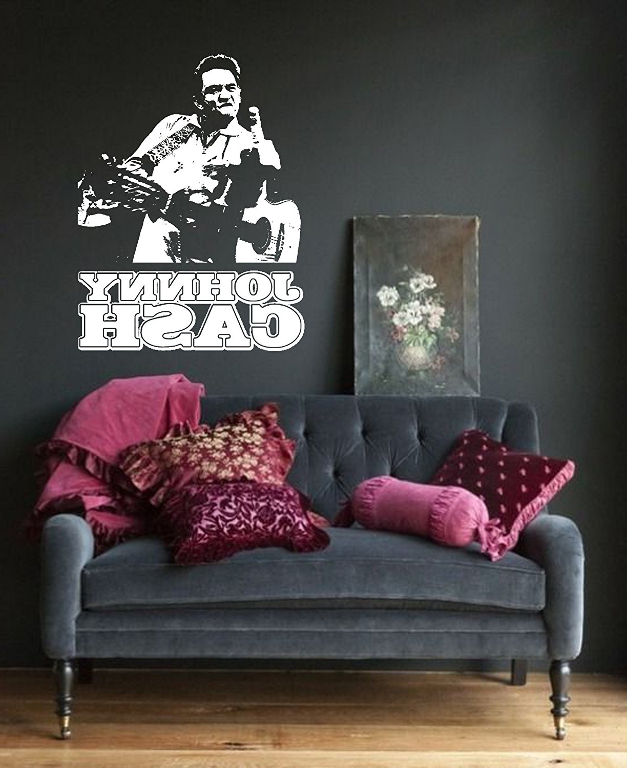 Most Recently Released Johnny Cash Wall Art Pertaining To Amazon: Johnny Cash Wall Art Sticker Music Vinyl Mural Wa (View 12 of 15)