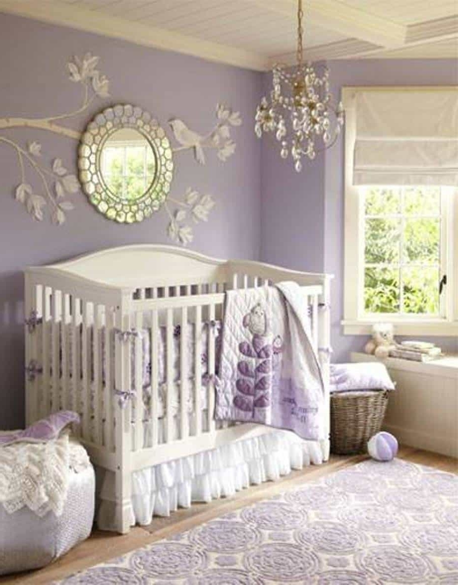 Most Recently Released Lavender Baby Girl Nursery Themes With 3D Wall Art And Mirror And With Baby Nursery 3D Wall Art (View 14 of 15)