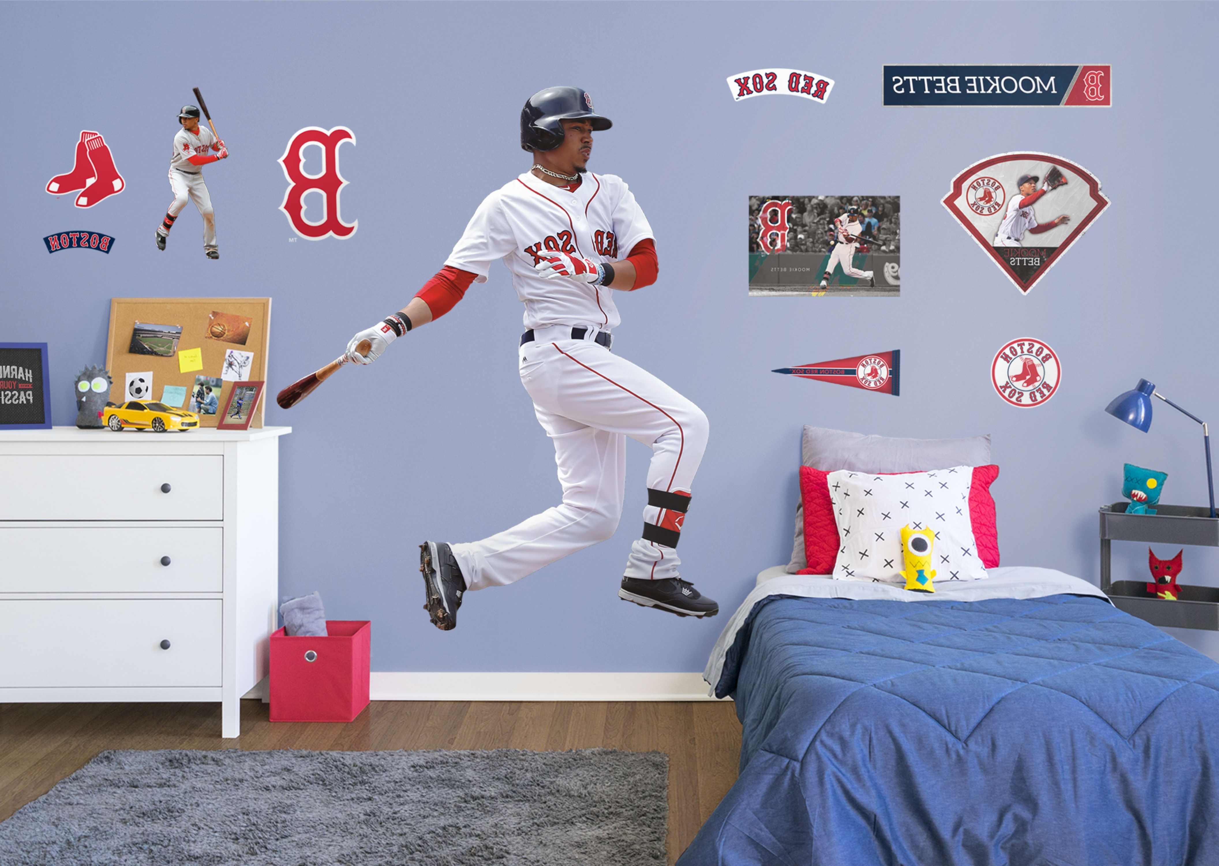Most Recently Released Life Size Mookie Betts Fathead Wall Decal (View 4 of 15)