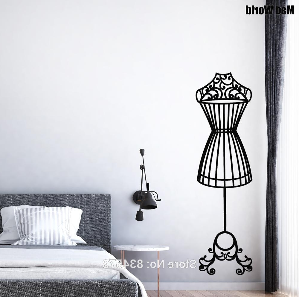 Most Recently Released Mannequin Wall Art Intended For Mad World Elegant Mannequin Silhouette Wall Art Stickers Wall (View 6 of 15)