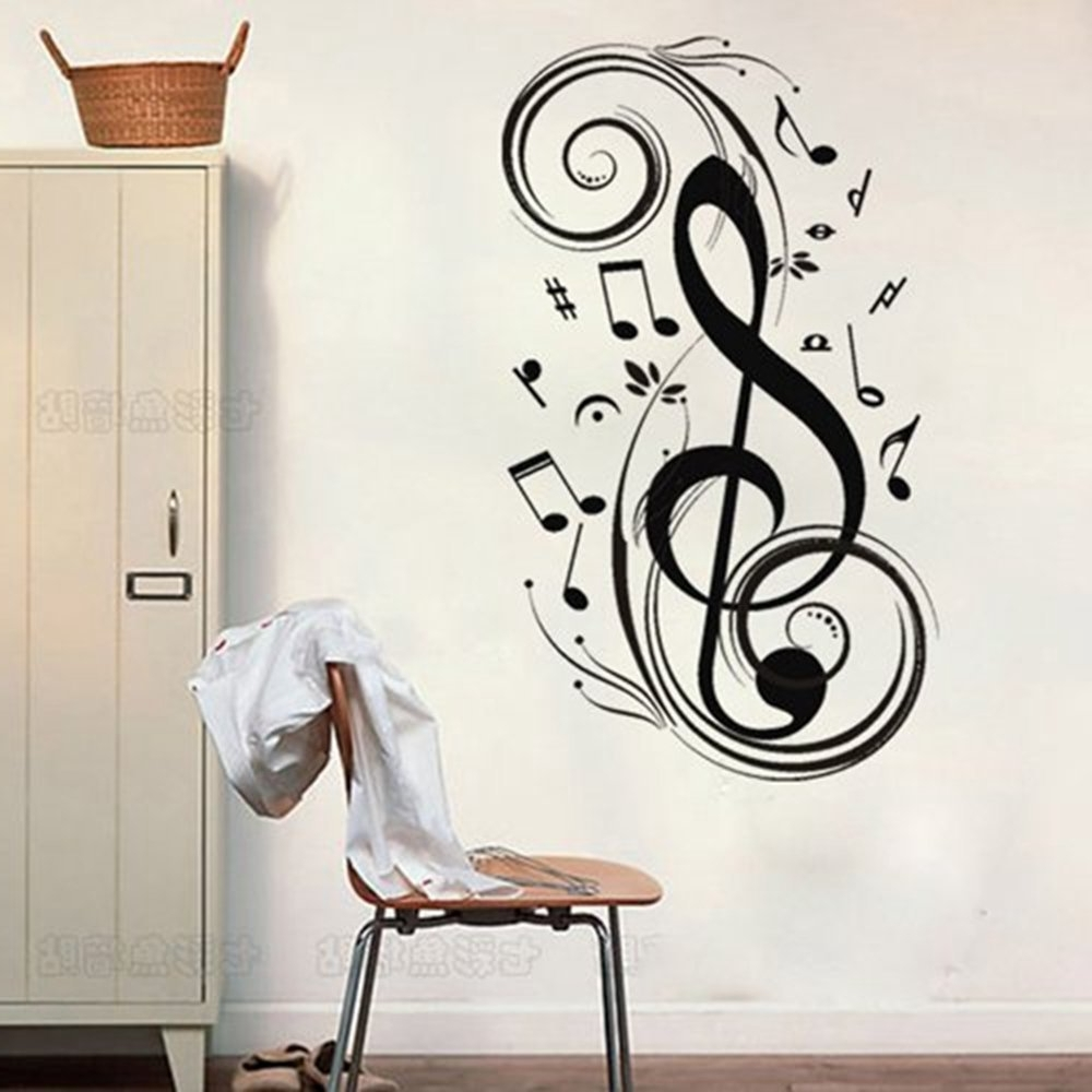 "Most Recently Released Music Notes Wall Art Decals With Regard To Amazon: Colorfulhall 23.6"" X (View 10 of 15)"