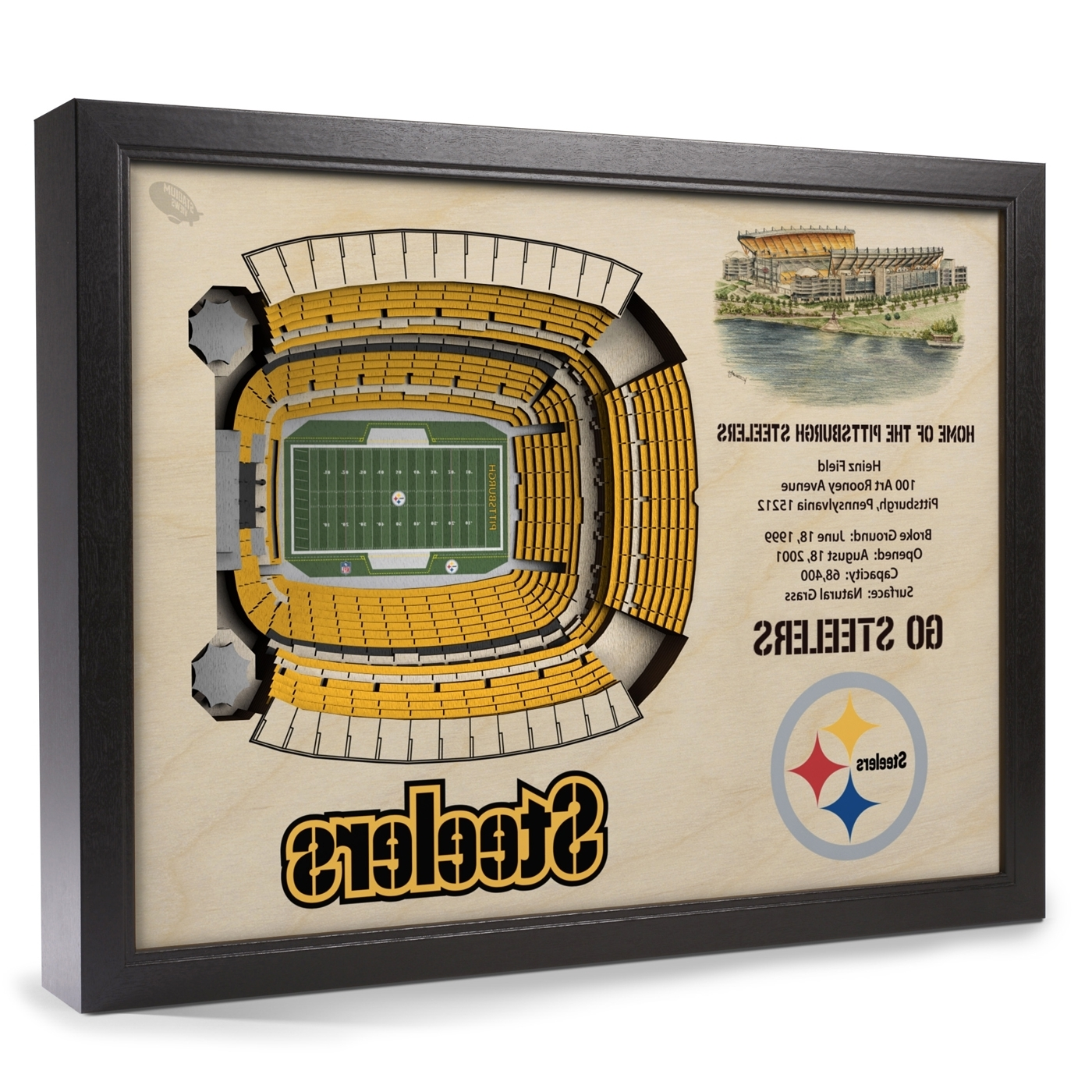 Most Recently Released Pittsburgh Steelers Stadium View Wall Art Intended For Steelers Wall Art (View 6 of 15)